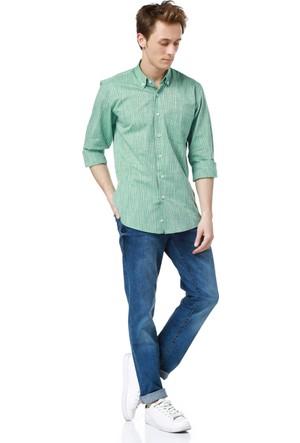 Dewberry G617 Erkek Gömlek Yeşil