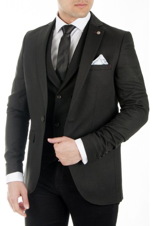 Deepsea Siyah Blazer Erkek Ceket 1760066-002