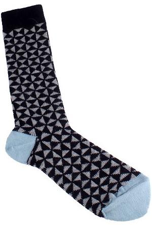 Timberland A1E5P433 Tm31684 Pattern Crew Dark Sapphır Çorap