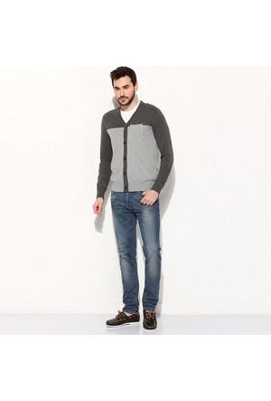 Timberland Medıum Grey 4717J 12Gg Ctn/Cashmere Sweater Hırka
