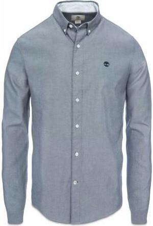 Timberland Black Yd A1C3Gb23 Ls Slim Lne Rvr Oxd Shirt Gömlek