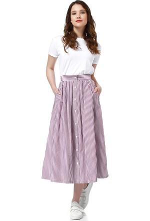 Bsl Fashion Bordo Etek 9316