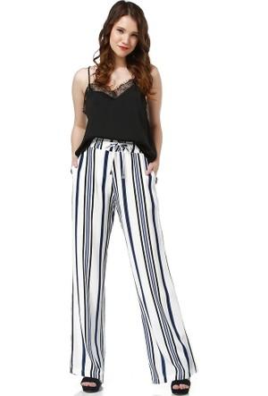 Bsl Fashion Lacivert Pantolon 9302