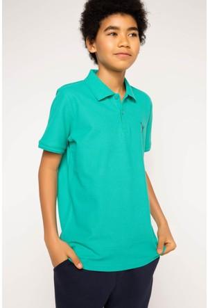 DeFacto Erkek Çocuk Basic Polo T-Shirt Yeşil
