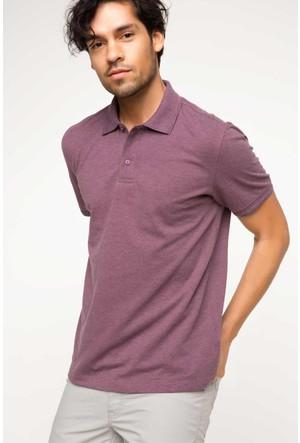 DeFacto Erkek Basic Polo T-Shirt Mor