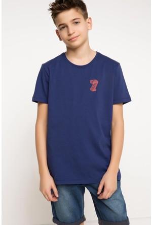 DeFacto Erkek Çocuk Baskılı T-Shirt Lacivert