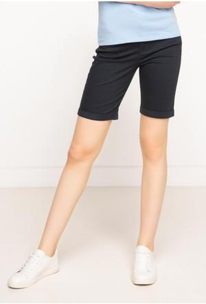 DeFacto Kadın Basic Skinny Bermuda Lacivert