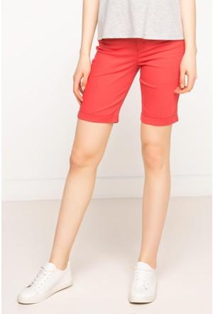 DeFacto Kadın Basic Skinny Bermuda Kırmızı