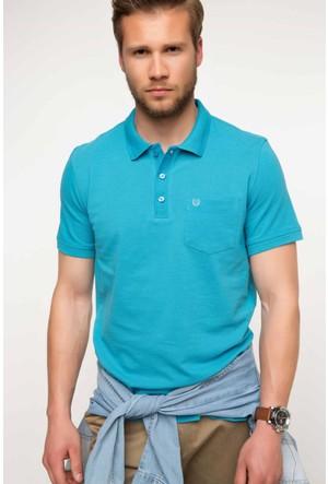 DeFacto Erkek Polo T-Shirt Turkuaz