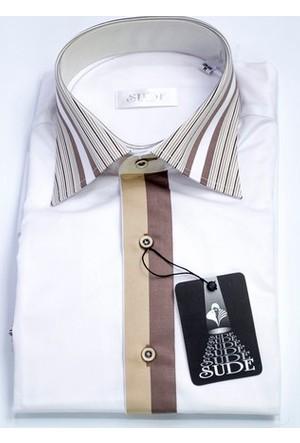Sude Triko Erkek Klasik Uzun Kollu Gömlek 31035
