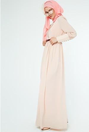 FullaModa Kadın Düğmeli Elbise 16Y16LRN0017