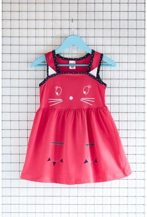 FullaModa Kız Çocuk Baskılı Elbise 17Y17AKKU0002