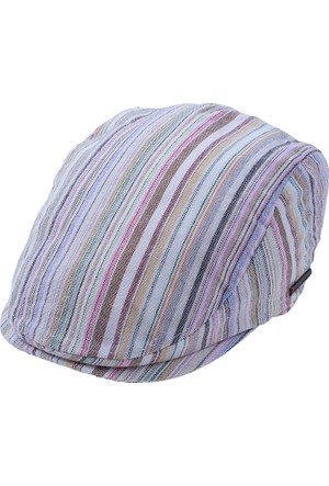 Bay Şapkacı Erkek Çizgili Kaset Şapka