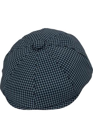 Bay Şapkacı Erkek Kaset Kareli Şapka