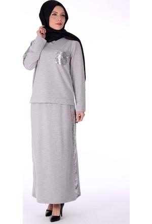 Bwest Paye i Etek Bluz Takım 1314 - Gri