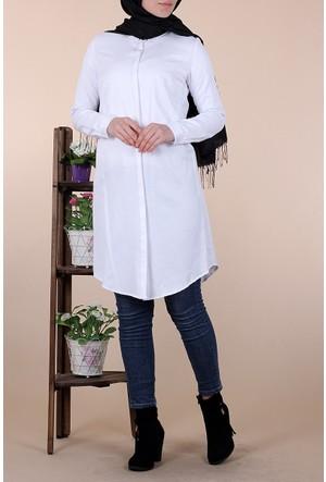 Allday Gömlek Tunik 50427 - Beyaz