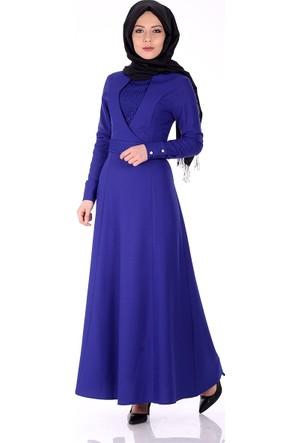 Oben Önü Dantel Detay Abiye Elbise 0220 - Saks