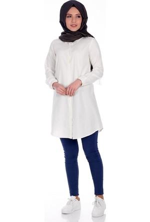 Eliva Boyfriend Gömlek 1044 - Beyaz