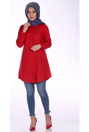 Eliva Boyfriend Gömlek 1044 - Kırmızı