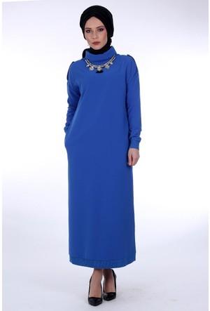 Zamane Degaje Yakalı Elbise 2081 - Saks