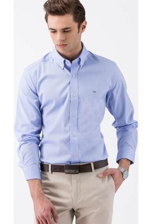 Lacoste Erkek Mavi Slim Gömlek CH9844 XU1