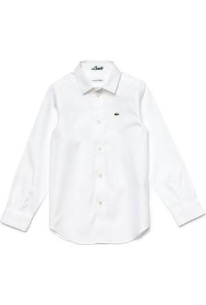 Lacoste Beyaz Sportswear Çocuk Gömlek CJ2907 001