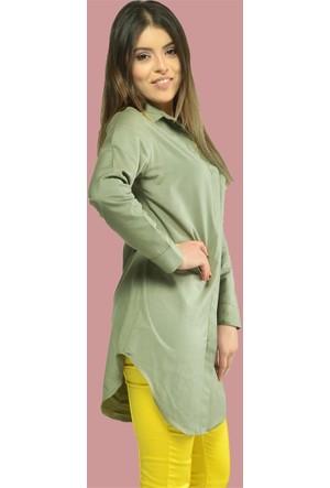 Modamla Gizli Patlı Gömlek Tunik