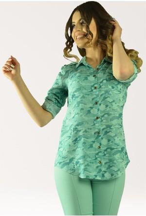 Modamla Kamuflaj Tek Cep Gömlek