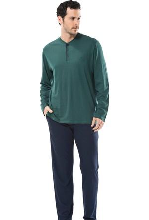 Cacharel 2148 Empirme Baskılı Patlı Uzun Kol Erkek Pijama Takımı