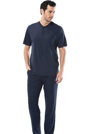 Cacharel 2150 Empirme Baskılı Patlı Kısa Kol Erkek Pijama Takımı
