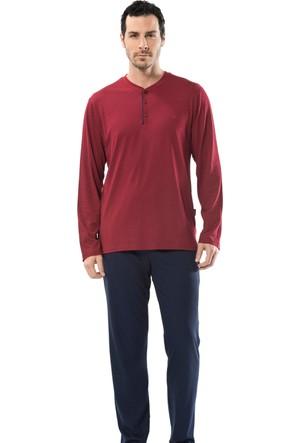 Cacharel 2152 Empirme Baskılı Patlı Uzun Kol Erkek Pijama Takımı