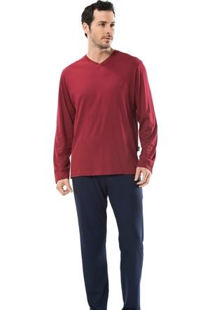 Cacharel 2153 Empirme Baskılı Patlı Uzun Kol Erkek Pijama Takımı