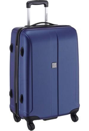 Saxoline Saxoline Erkek Sert Plastik Bavul 60 Cm Mavi