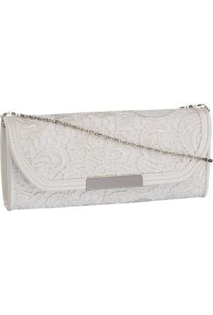 Graceland Kadın Clutch El Çantası Beyaz