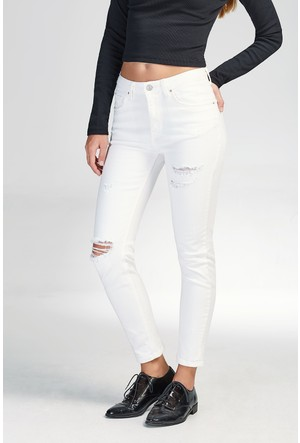 LTB Lina White Damaged X Wash Pantolon