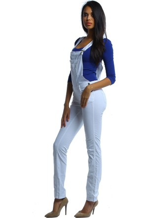 Twister Jeans Mılena 030 359 Beyaz Salopet Tulum