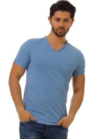 Twister Jeans Ets 1400 Mavi Cepli Erkek T-Shirt