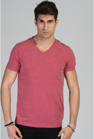 Twister Jeans Ets 1505 Bordo Erkek T-Shirt