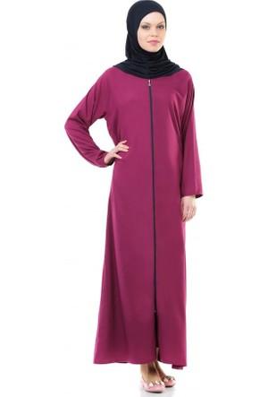 İhvan 5008-4 Pratik Kendinden Örtülü Fuşya Namaz Elbisesi