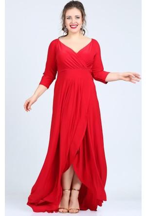 Angelino Butik Kl56 Kırmızı Abiye Elbise