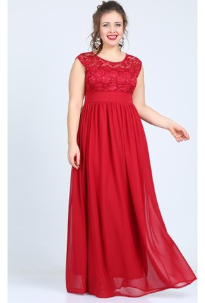 Angelino Butik Kl4009 Kırmızı Abiye Elbise