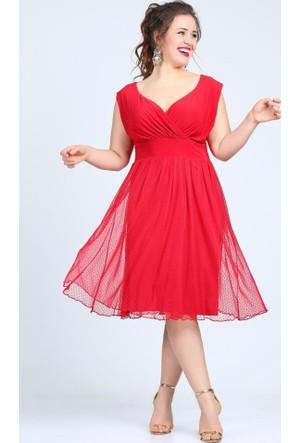 Angelino Butik Kl7878 Kırmızı Abiye Elbise