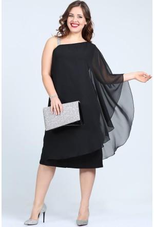 Angelino Butik Kl6060 Siyah Abiye Elbise
