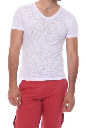 Efor TS 658 Cepsiz V Yakalı Spor Tarz Erkek T-Shirt 16Y626T658