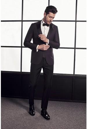 Efor Black 007 Ticket Cepli Saten Yakalı Erkek Ceket BLC007S217