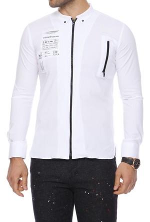 Efor G 1273 Cepsiz Düğmeli Spor Yakalı Erkek Gömlek G1273S0117