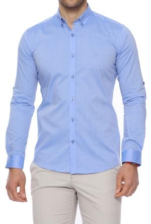 Efor GK 469 Cepsiz Düğmeli Spor Yakalı Erkek Gömlek GK469S0217