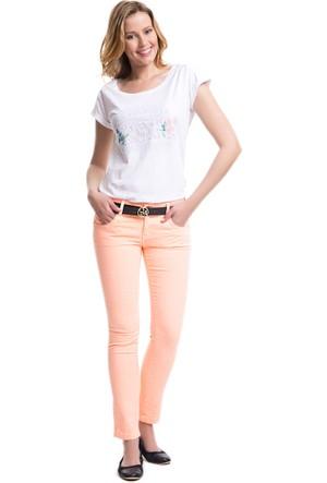 U.S. Polo Assn. Kadın Yıkamalı Kot Pantolon Turuncu