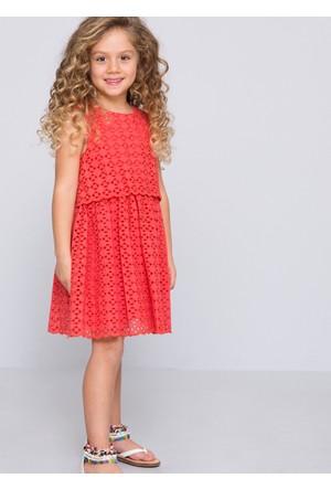U.S. Polo Assn. Kız Çocuk Hera Elbise Kırmızı