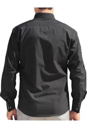 Akbaba Erkek Manşet Kol Gömlek Siyah